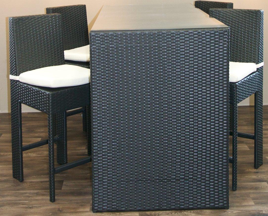 Tavolo alto con sgabelli set da sotto portico con sgabelli alti