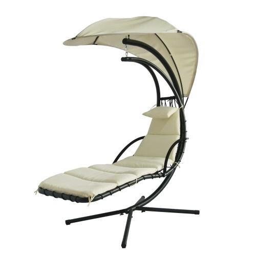 Sedia A Dondolo Bianca.Lettino Dream Chair Sedia Dondolo Da Esterno Con Ombrellino Parasole