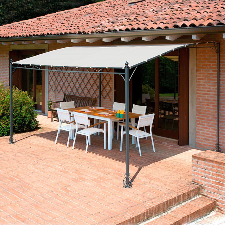 Gazebo pergola 4x3 giardino terrazza top design telo - Pergola giardino ...