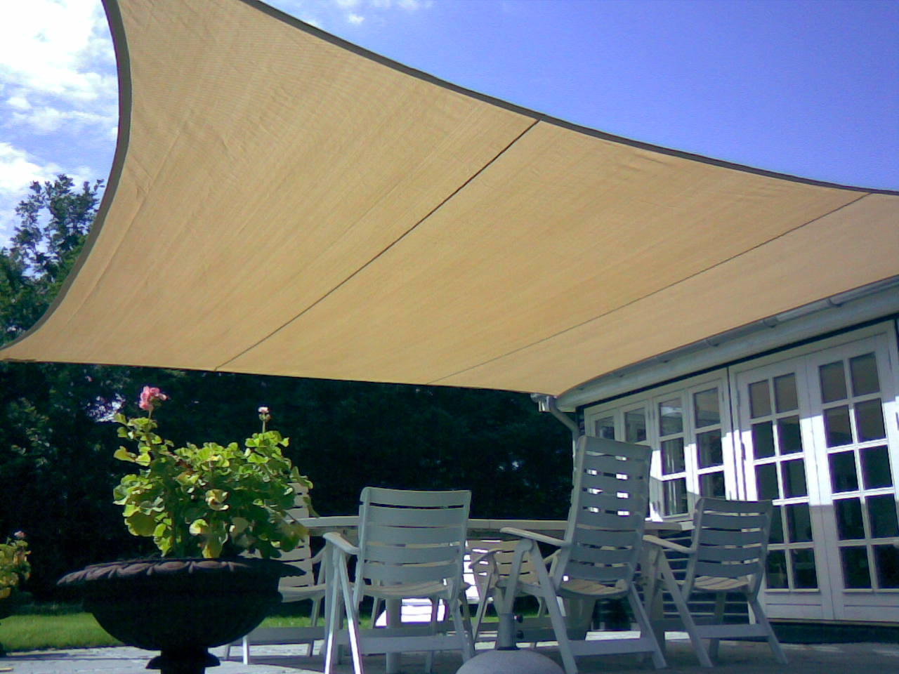 Vela Triangolare Da Giardino vela ombreggiante quadrata 5 x 5 mt 180 gr