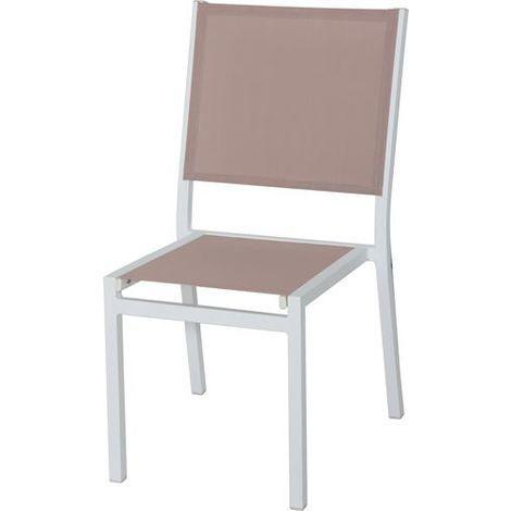 Sedia senza braccioli con telaio in alluminio verniciato a for Sedia a dondolo foppapedretti