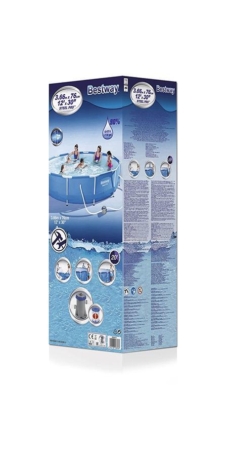 Bestway piscina fuori terra con telaio portante da for Attrezzi per piscina