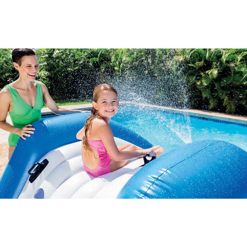 58849 parco giochi gonfiabile galleggiante con scivolo e spruzzo acqua intex - Bambini in piscina a 3 anni ...