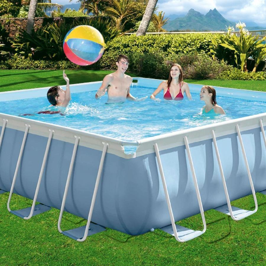 Piscina fuori terra intex square pools 427x427 codice 28764 la piscina fuori terra della linea - Riparazione telo piscina ...