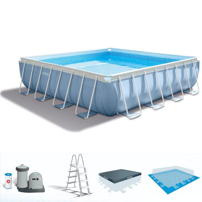 La piscina fuori terra quadrata intex 28766 della linea for Piscina fuori terra normativa