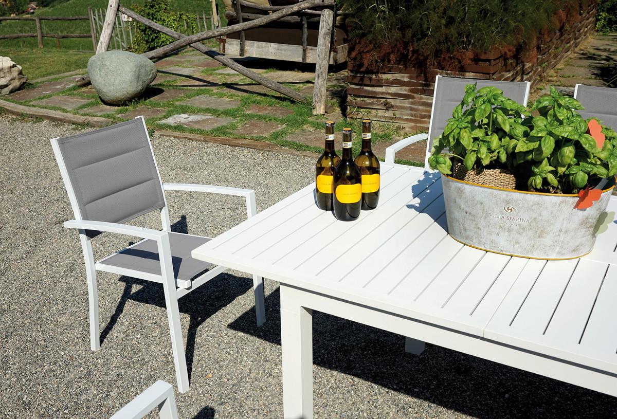Greenwood Tavoli Da Giardino.Tavolo Camaiore Allungabile 200 300 X 100 Cm Alluminio Bianco