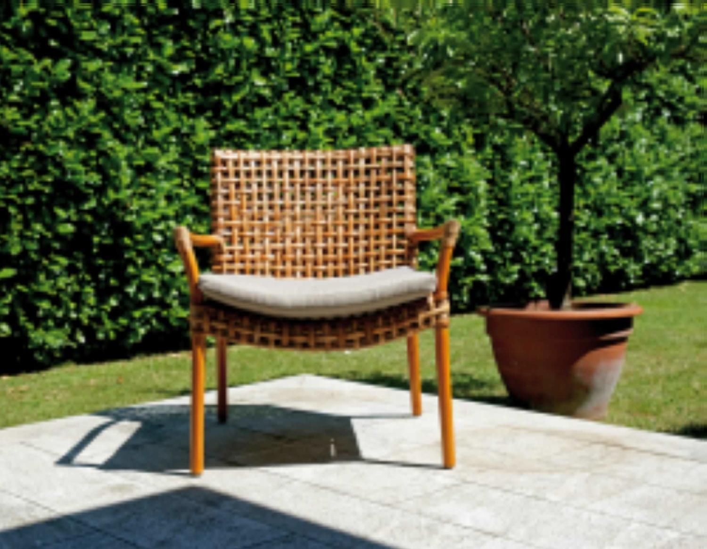 Set arredo giardino in rattan naturale set kerala pes 35 for Arredo da giardino rattan