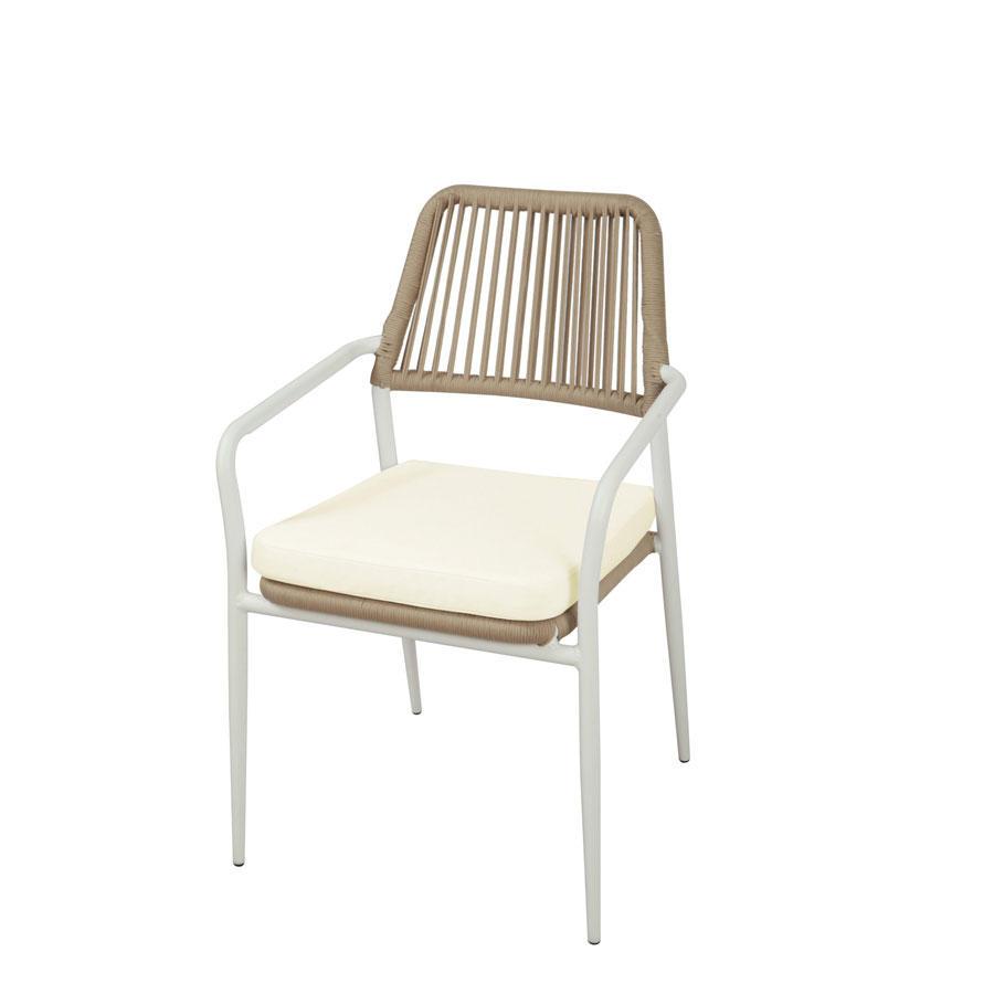 Sedia da giardino impilabile sedia pegli in alluminio for Sedia uovo giardino