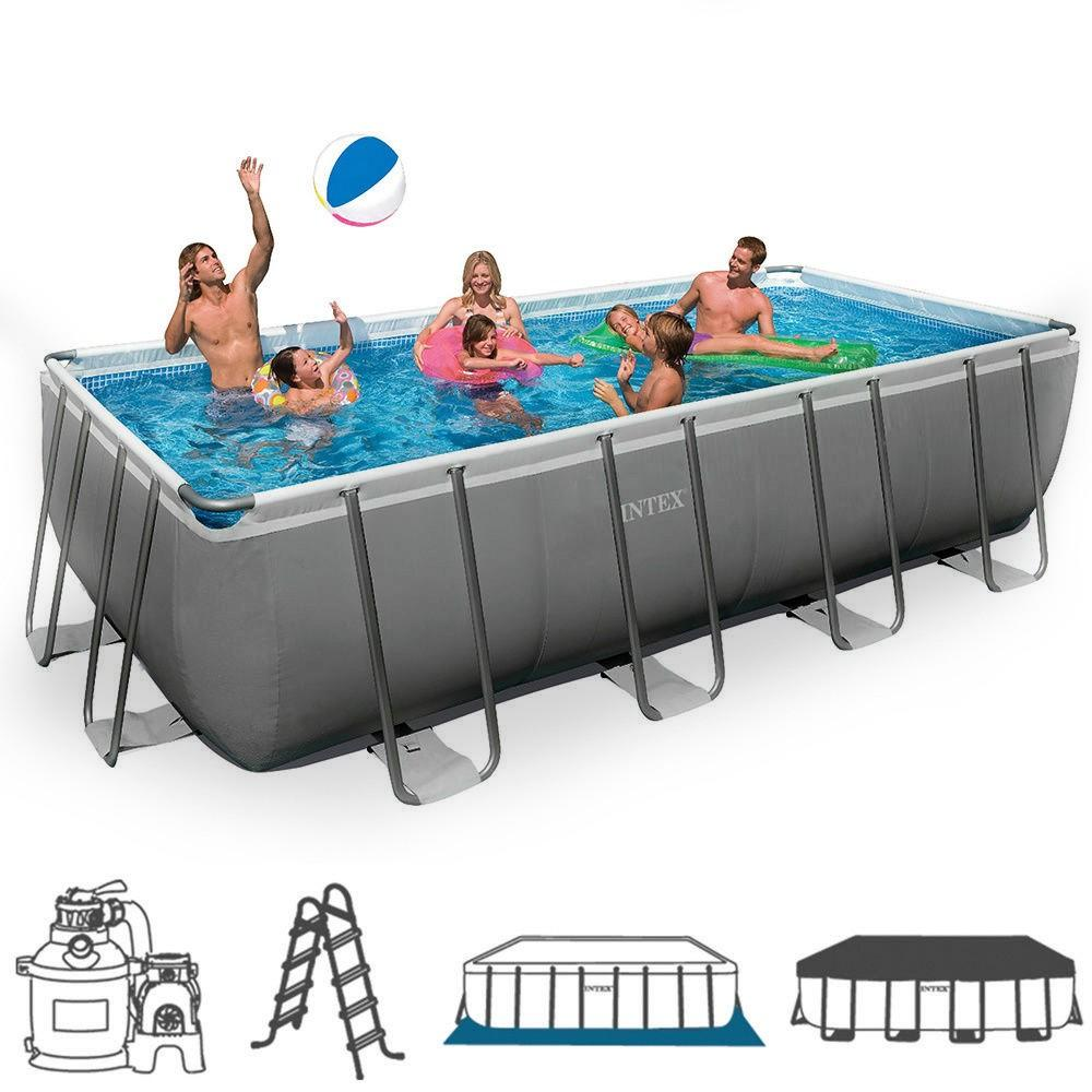 Piscina intex 26352 ultraframe rettangolare misura 549 x for Piscine intex amazon
