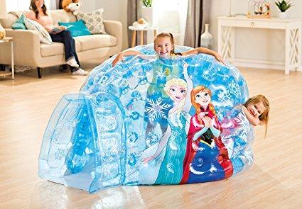 Tende Per Bambini Con Palline : Casetta gonfiabile piscina con palline iglo frozen intex 187x157x107