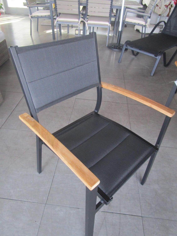 Sedie Da Giardino Impilabili.Sedia Da Giardino Impilabile Formentera In Alluminio E Textilene Cht 54