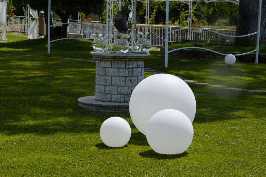 Illuminazione giardino con sfere sfera luminosa lampada diametro