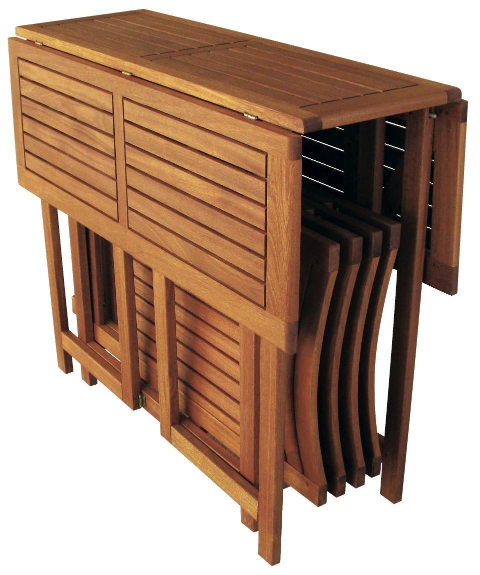 Set legno acacia salvaspazio chiudibile foldies set5 - Piani per tavoli da esterno ...