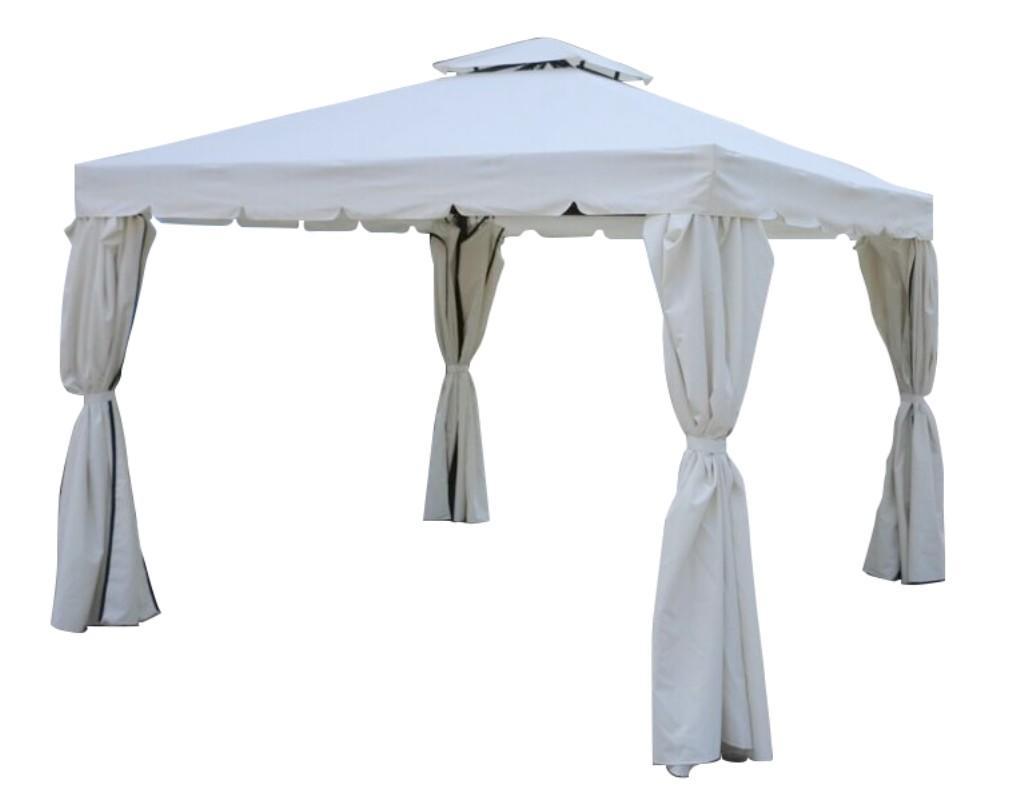 Plafoniere Da Gazebo : Gazebo da giardino venezia in alluminio completo di tende e