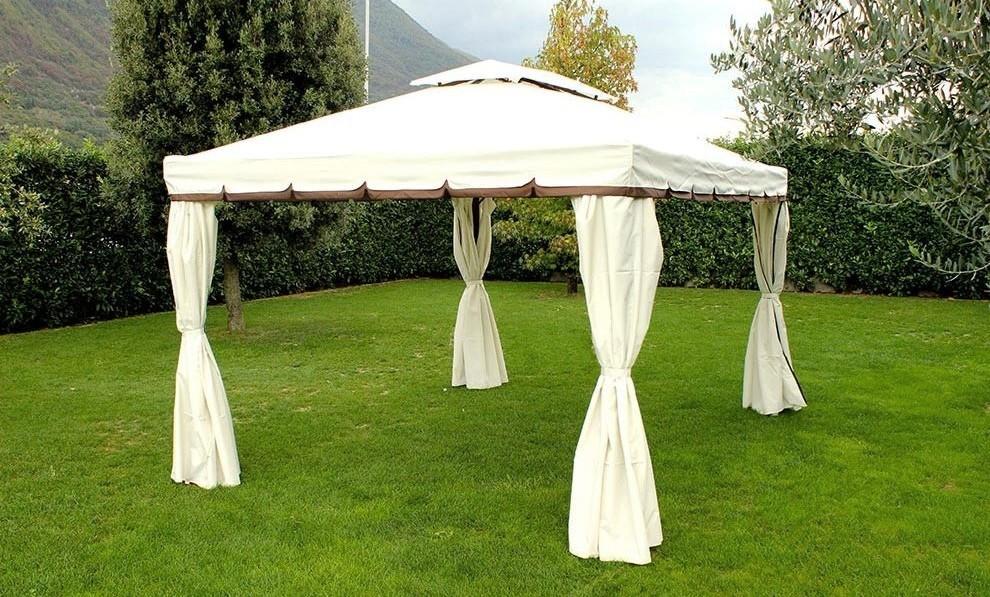 Plafoniere Da Gazebo : Gazebo da giardino ananas in alluminio completo di tende e