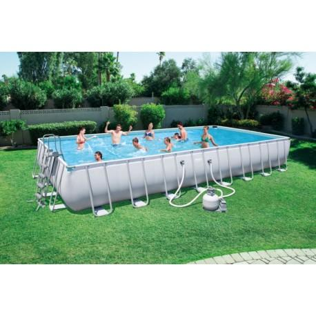 Piscina fuori terra ultra frame con in pvc piscina bestway - Piscine fuori terra amazon ...