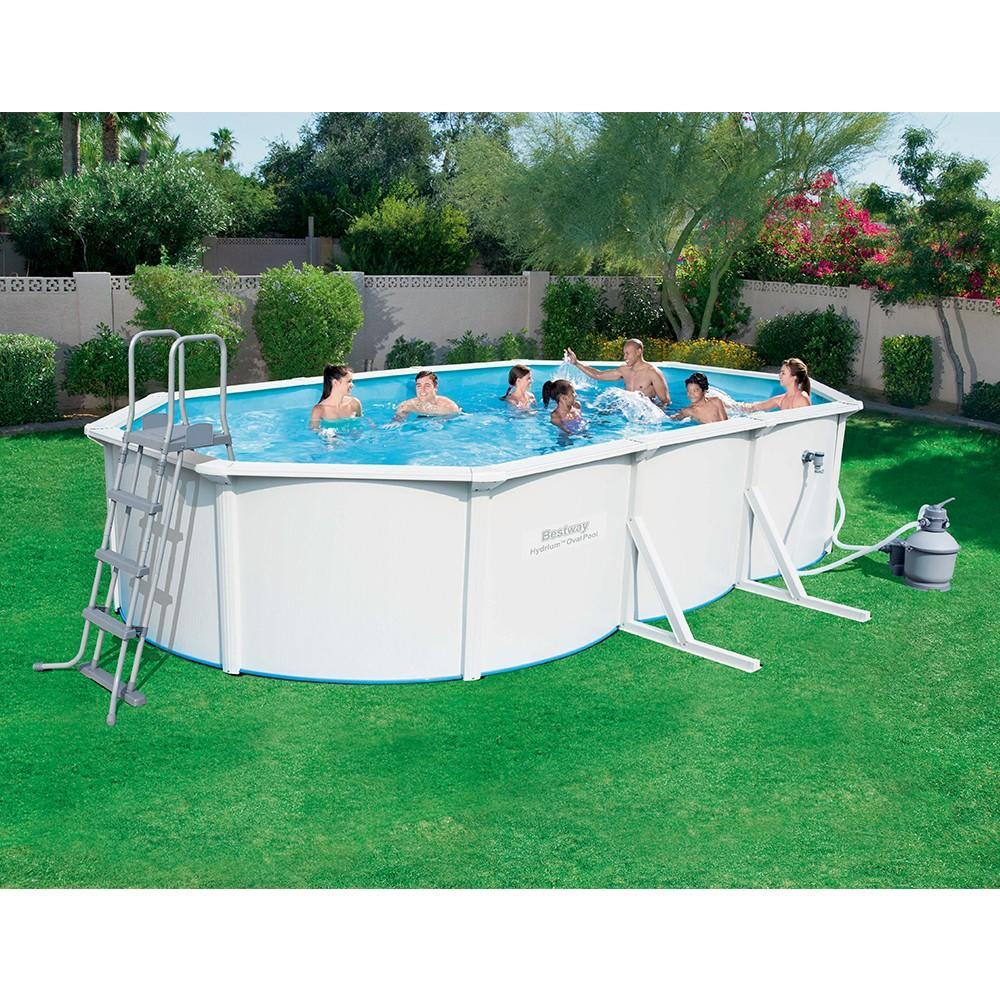 Piscina fuori terra rigida hydrium bestway 56369 lamiera 610 x 360 x 120cm pompa sabbia scaletta - Riparazione telo piscina ...