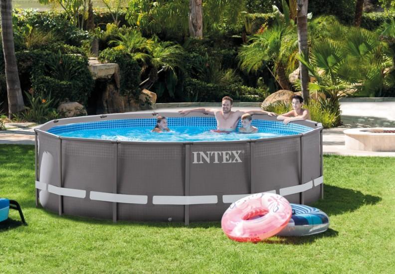 intex ultraframe 549x132 cm mit neuestem sandfilter alle. Black Bedroom Furniture Sets. Home Design Ideas