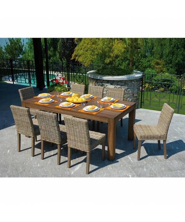 Tavolo In Legno Per Giardino.Tavolo Da Giardino In Legno Moia Wrt 03w Bali Tavolo Da Esterno Con