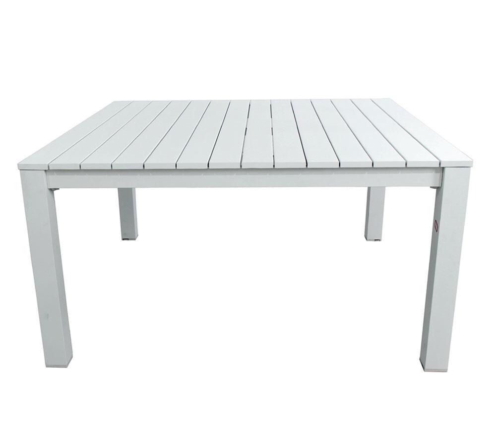 Tavolo Da Giardino Bianco.Tavolo Da Giardino Quadrato In Alluminio 145 X 145 Cm Loreto