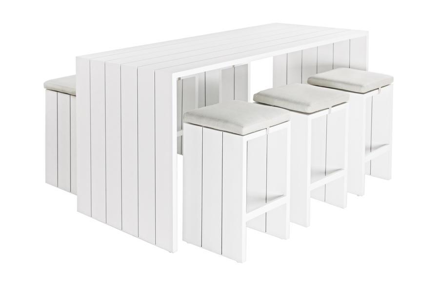 Set tavolo in alluminio bar aperol aperitivo con sgabelli con