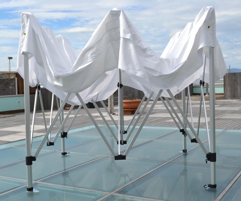 Gazebo telescopico per fiere mercatini professionale resistente