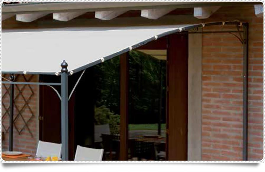 Gazebo A Muro In Ferro.Gazebo Pergola 4x3 Giardino Terrazza Top Design Telo Idrorepellente