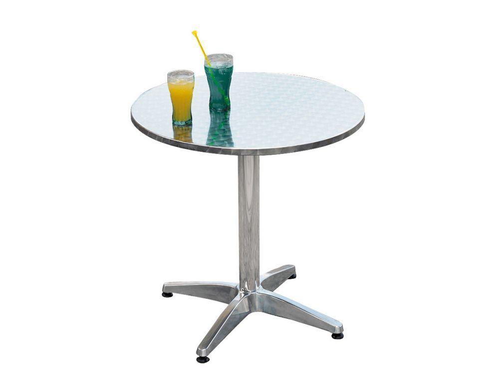Tavolo bar professionale rotondo diametro 70 in alluminio for Tavolo rotondo 70 cm
