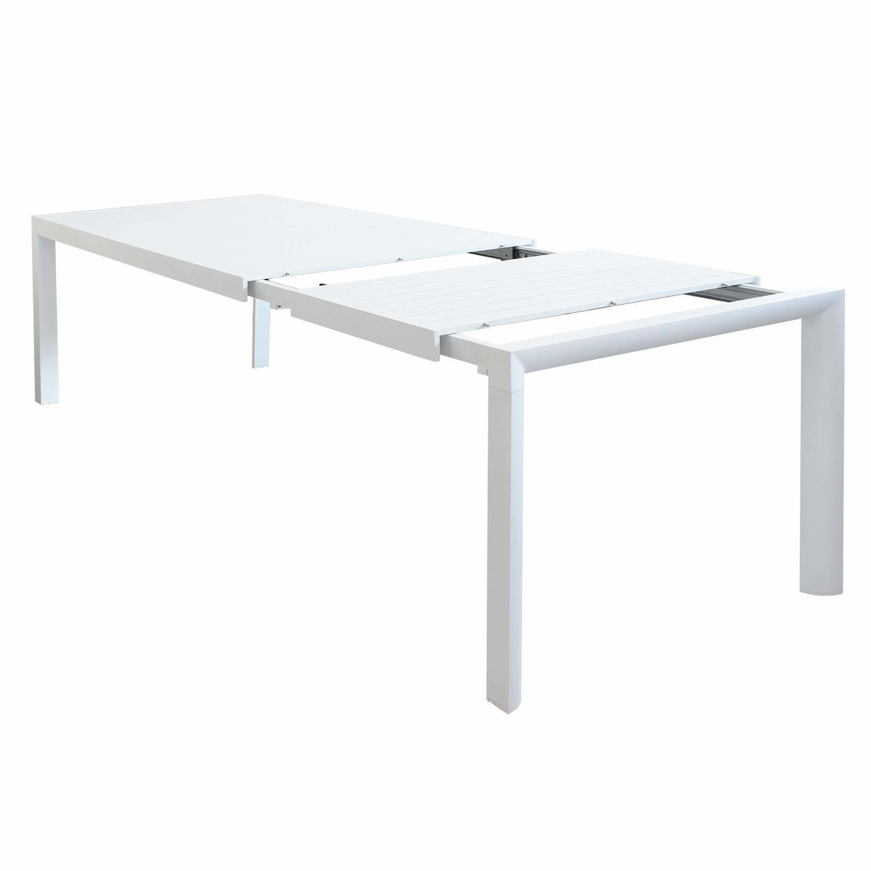 Tavolo Da Giardino In Alluminio Belluno Misura 180 240 X 100 H 75 Colore Bianco