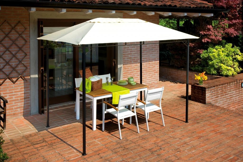 Tipologia gazebi da giardino in ferro rettangolare 3x2 m for Soluzioni da giardino