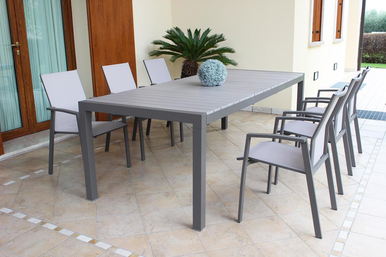 Tavolo Giardino Alluminio Allungabile.Tavolo Da Giardino Allungabile Waikikis In Alluminio Taupe Cm 162