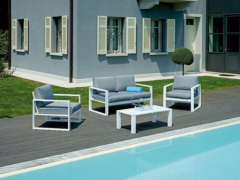 Arredo Da Giardino In Alluminio.Il Set Fortaleza E Perfetto Per Arredare In Stile Moderno Ed