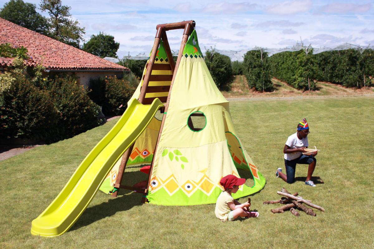 Tenda Indiani Fai Da Te scivolo con tenda area giochi geronimo