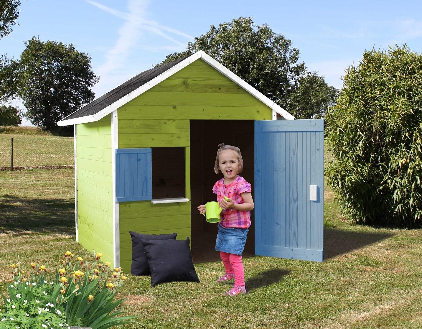 Casetta da esterno in legno ribes per bambini cod cl1387 - Casetta da giardino per bambini usata ...