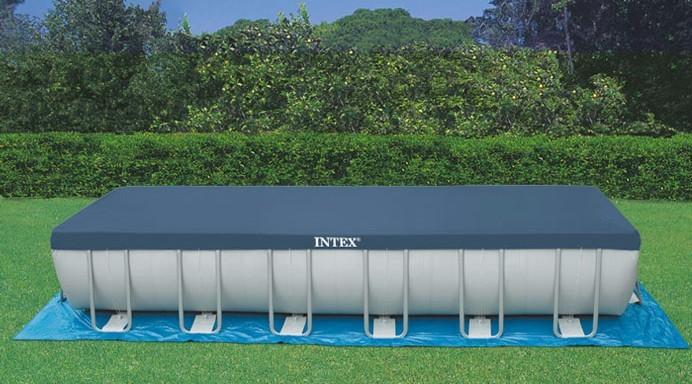 Il telo di copertura per piscine rettangolari mod 18936 ideale per piscine fuori terra intex - Saldatura telo pvc piscina ...