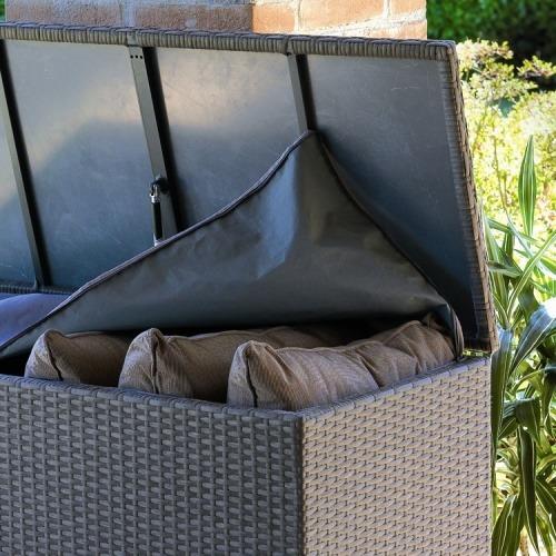 Bauli In Rattan Sintetico.Scheda Tecnica Box Per Cuscini Realizzato In Fibra Wicker