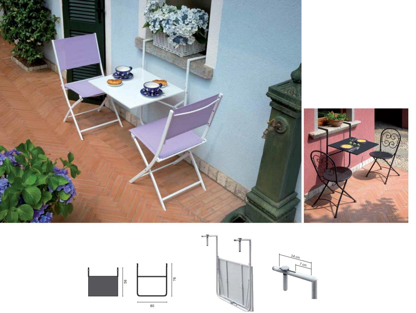 Moia tavolo da ringhiera 60 x 56 cm rtf 19 bianco - Ikea tavolino pieghevole ...