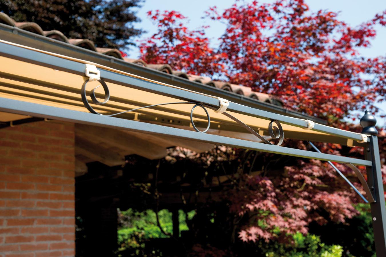 Gazebo pergola 4x3 giardino terrazza top design telo for Soluzioni giardino in pendenza