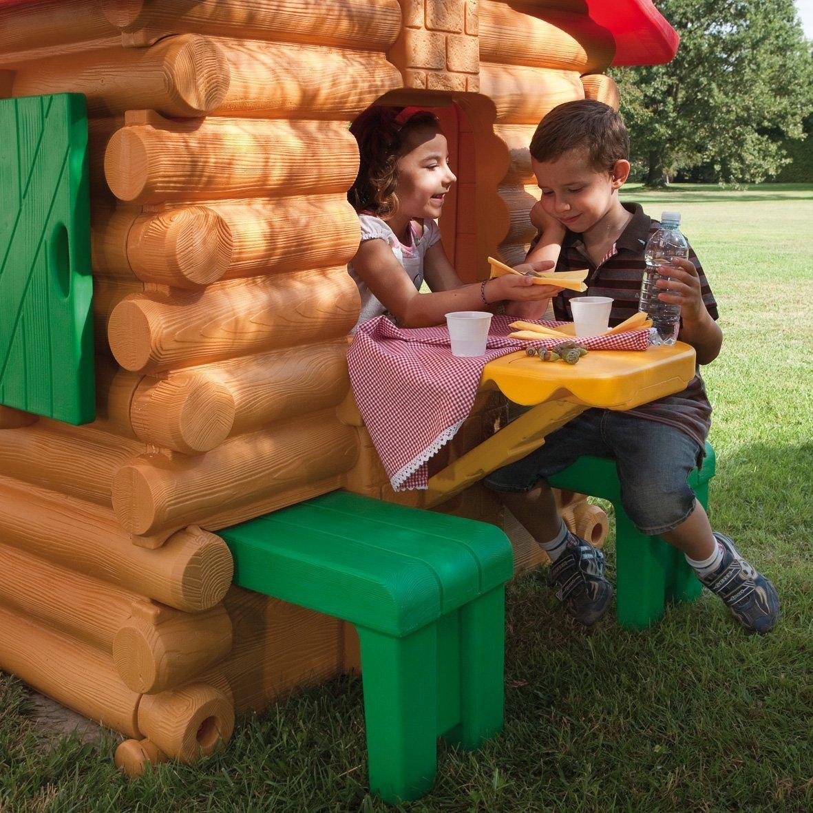 Casetta per bambini da giardino chicco simil chalet legno chicco 30101 casetta chicco - Chicco gartenhaus ...