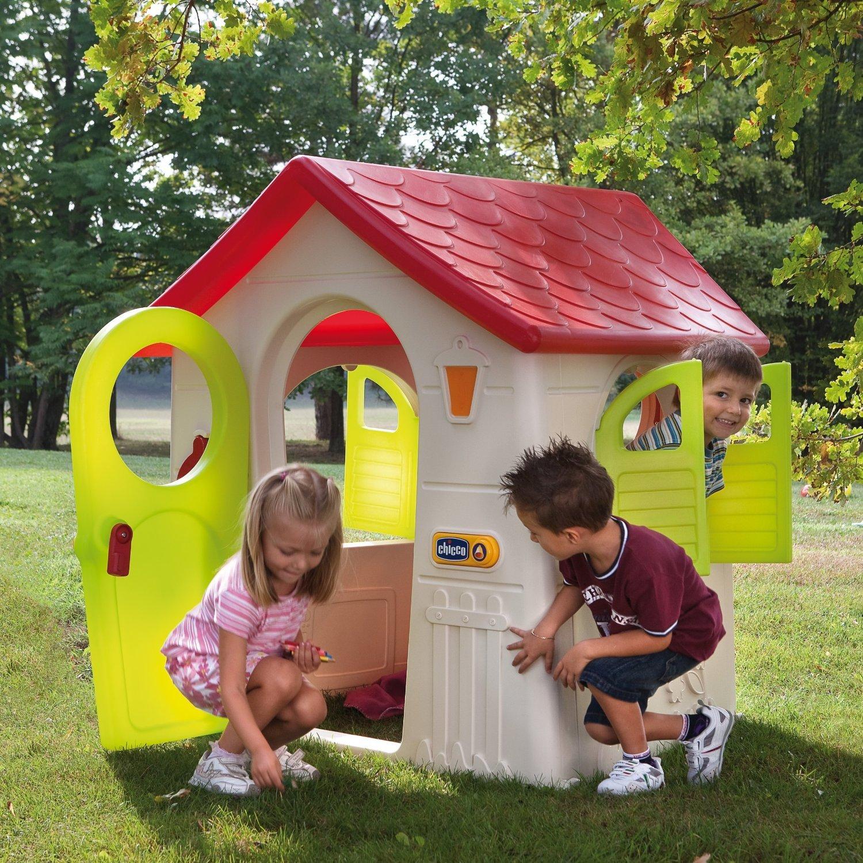 Casetta in plastica per bambini da giardino casetta nel bosco chicco 30102 for Casetta giardino bimbi usata