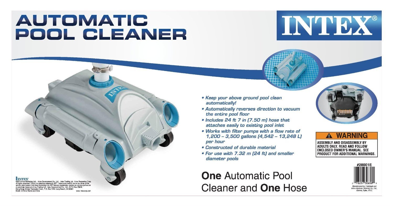 7ea93497 Pulitore piscina Robot Auto Pool Cleaner manutenzione INTEX 28001 ...