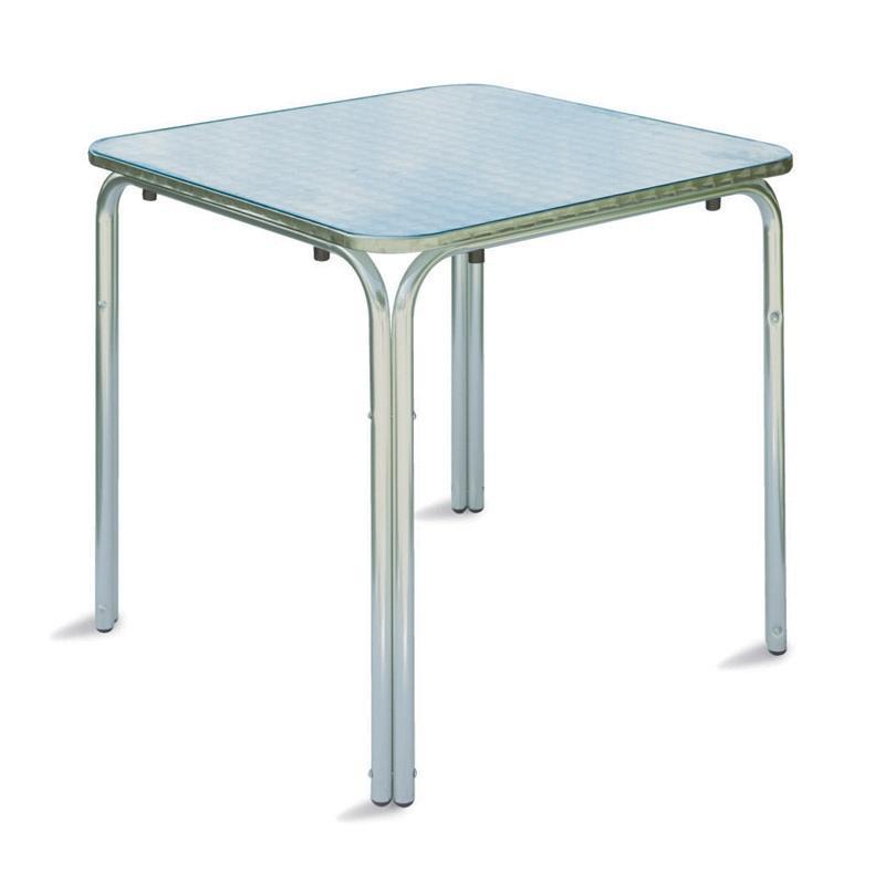 Tavolo Bar professionale quadrato 70 x 70 impilabile in alluminio e ...