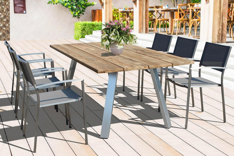 Offerta! 🚨 Tavolo da giardino NEVADA ALLUMINIO e piano in ...