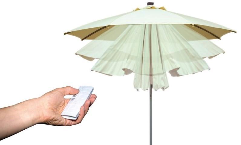 Pannello Solare Ombrellone Z2 : Ombrellone rotondo Ø apertura automatica telecomando luci