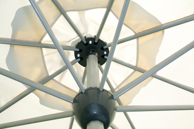 Pannello Solare Ombrellone Bibione : Ombrellone rotondo Ø apertura automatica telecomando luci