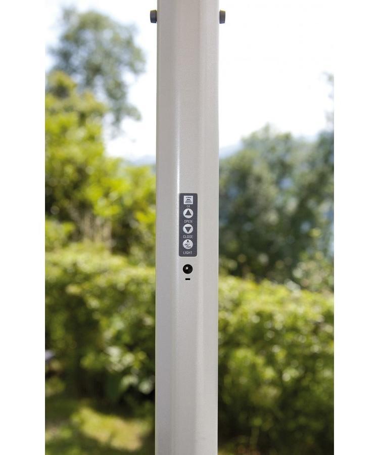 Pannello Solare Per Ombrellone : Ombrellone rotondo Ø apertura automatica telecomando luci