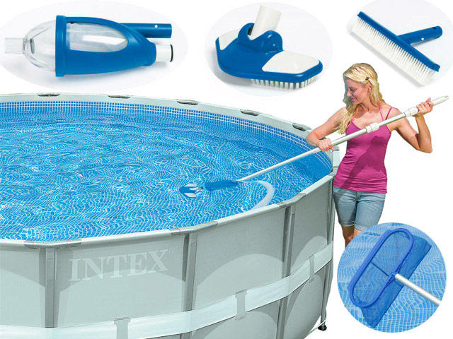 Kit set accessori retino pulizia manutenzione piscina for Intex accessori