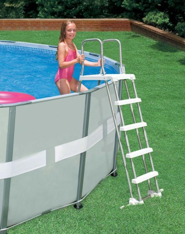 Scaletta piscina intex 28074 122 132 cm piscina piscina scala scala intex 28074 per sicurezza - Scaletta per piscina ...