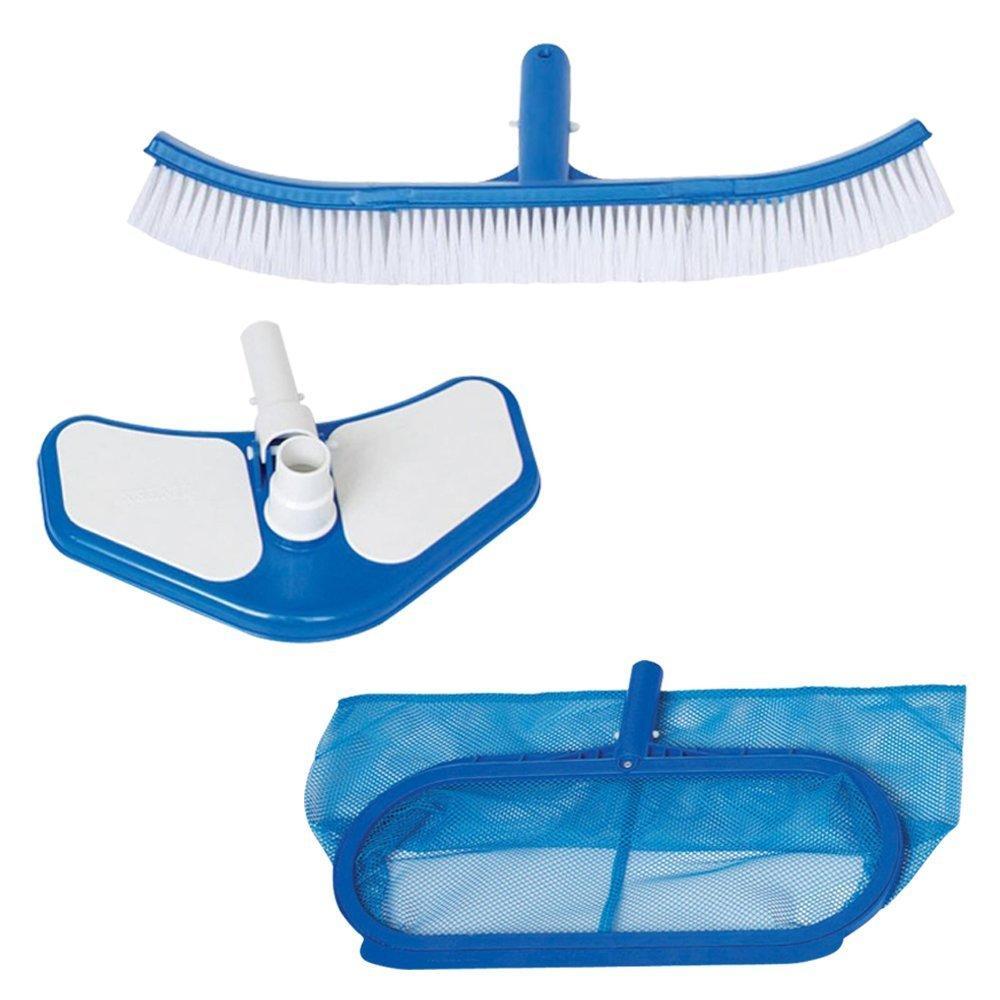 Intex kit accessori retino spazzola pulizia manutenzione for Pulizia piscina
