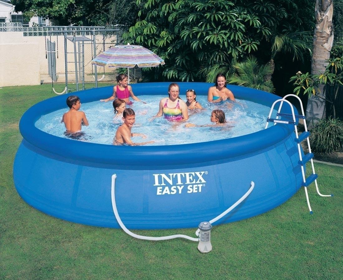 piscina vasca rotonda fuori terra con pompa filtro circolare intex 457x107 piscina fuoriterra. Black Bedroom Furniture Sets. Home Design Ideas